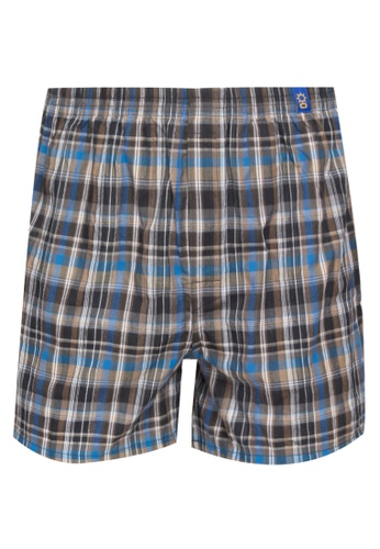 Sunjoy brown Checkered Boxer Shorts F3BCCUSAEA525BGS_1