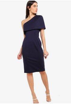 bbb796a3506a3 37% OFF Lavish Alice One Shoulder Cape Midi Dress HK  889.00 NOW HK  555.90  Sizes 6 8 10 12 14
