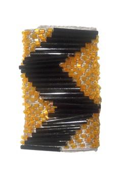 STRAP STYLERS - Orange w/ Black Zigzag
