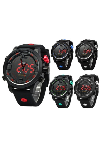Greatnes Trading Corp multi Military Digital Black Rubber Strap Sports Watch OS-AD2820 Set of 5(Random color) GR861AC35ILOPH_1