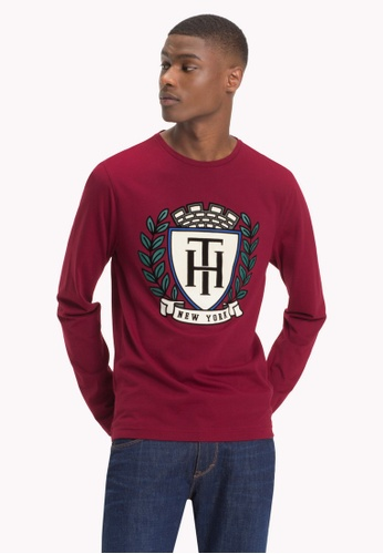 278ecbfc87ab Tommy Hilfiger red TH CREST LONG SLEEVE TEE 1FAF9AA498ED03GS 1