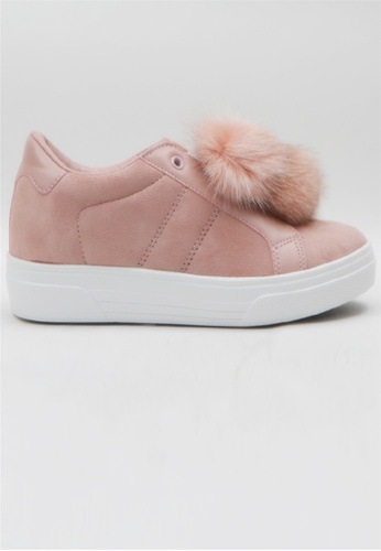 Crystal Korea Fashion pink Korean Winter New High Insoles Slip-Ons 80C76SH12B59C5GS_1