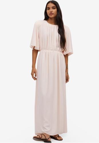 Mango pink Pleated Long Dress 712C8AA32D10CCGS_1