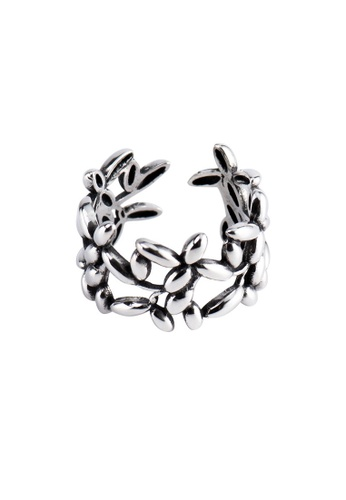 A-Excellence silver Premium S925 Sliver Leaf Ring 8D017ACBDB01C0GS_1