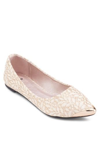 蕾絲尖頭平底鞋,esprit分店 女鞋, 芭蕾平底鞋