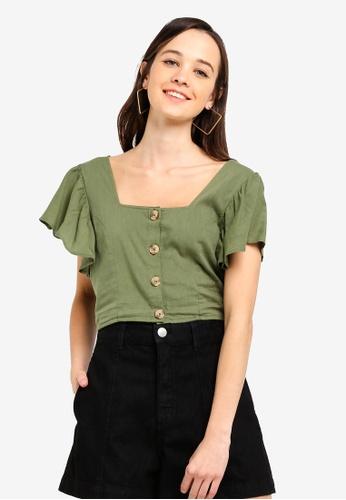 Cotton On green Ava Blouse 54FCDAA2D05A37GS_1