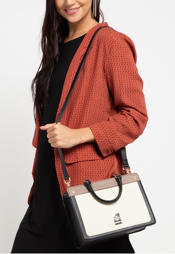 Les Catino black and brown New York Chelsea Satchel Nl 24638ACF4308FBGS_1