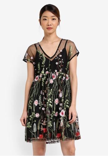 Something Borrowed black Drop Shoulder Babydoll Dress 87221AA7F8D732GS_1
