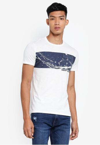 OVS 白色 短袖印花T恤 D3218AA4D59BE1GS_1