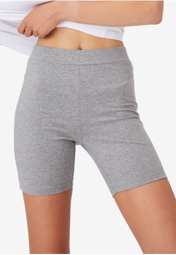 Cotton On grey The Pip Jersey Bike Shorts 1D53BAAF707145GS_1