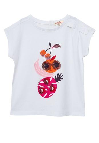 Du Pareil Au Même (DPAM) white Graphic T-shirt 066FAKA7EAE98CGS_1