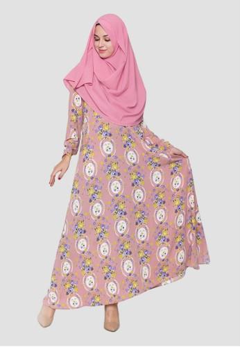Jual Arafah Azma Gamis Pink Original Zalora Indonesia