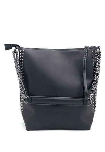 Halo black Two Way Crossbody Hand Bag ADA89AC7A08550GS_1