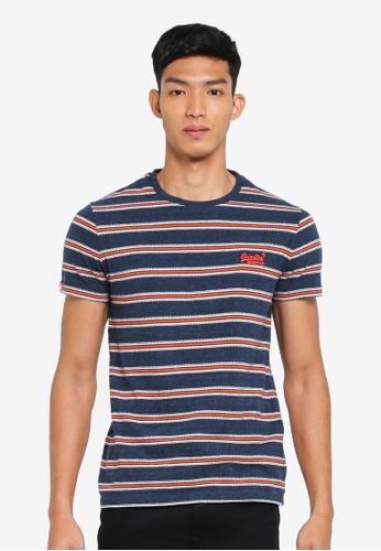 Superdry 藍色 短袖條紋T恤 ADCF2AAB260F34GS_1