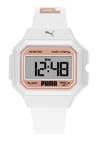 PUMA white Mini Remix Watch P1056 412E5AC7193307GS_1
