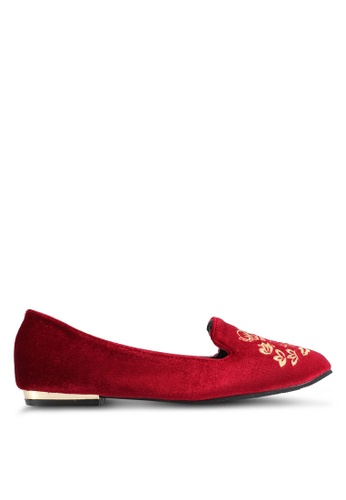 DMK red Embroidered Loafers DM860SH0SF3PMY_1
