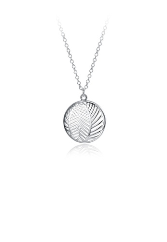 Glamorousky silver Fashion Elegant Geometric Hollow Round Pendant with Necklace 516D3ACC20C79BGS_1