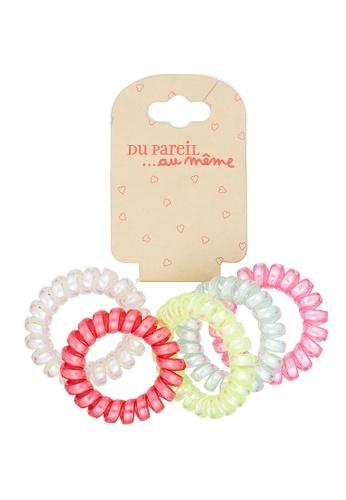 Du Pareil Au Même (DPAM) white Transparent Hair Elastics Pack 65F5FKCC0B280AGS_1