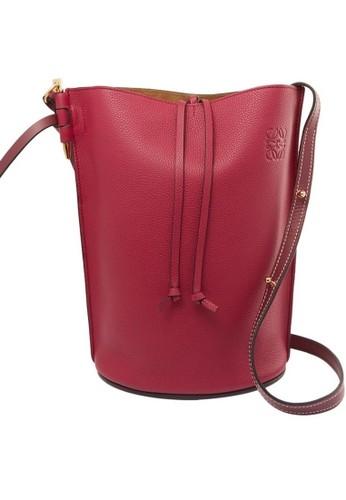 Loewe red Loewe Gate Bucket Bag in Burgundy E7D7BAC2401A59GS_1