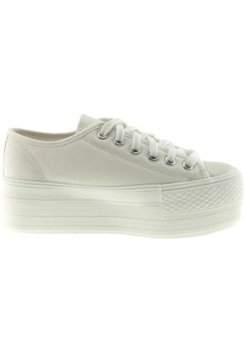 Maxstar white Maxstar Women's C50 6 Holes Platform Canvas Low Top  Sneakers US Women Size MA164SH45POSSG_1