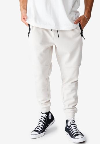 Cotton On beige Tech Track Pants A6181AA13F03CDGS_1