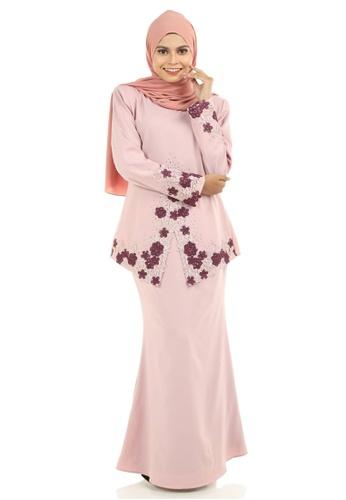 Ashura pink Deya Kebaya With Patched Lace 0AB9CAA462EFF7GS_1