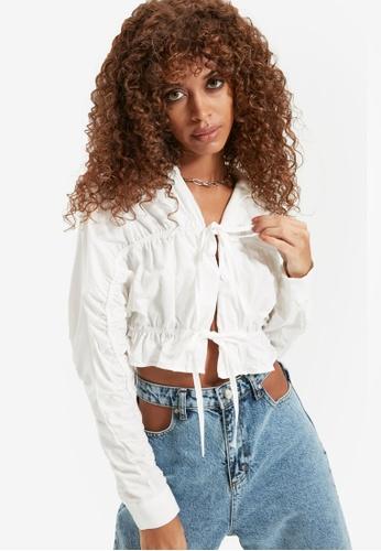 Trendyol white Ecru Shirt 01816AA4214A2DGS_1