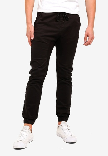 Cotton On 黑色 Drake Cuffed Pants FBAA2AAF2AC779GS_1