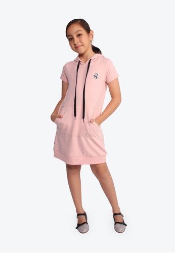 SODA pink Felix the Cat Hooded Dress 03052KA0EBC2F7GS_1