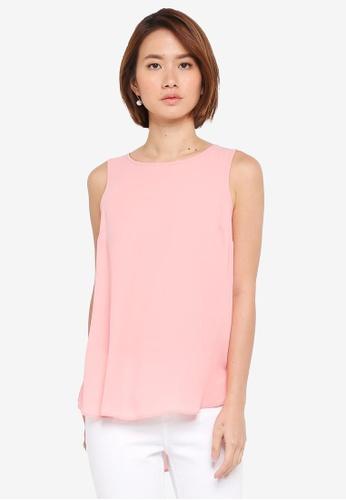 Dorothy Perkins pink Pink Build Up Vest 733D5AA0849EC6GS_1