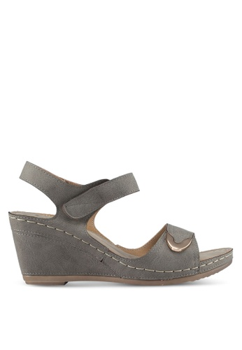 Louis Cuppers grey Wedge Sandals 46DB6SH4A98655GS_1