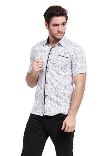 Hamlin blue Hamlin Dwan Shirt Kemeja Atasan Pria Motif Corak Premium Material  Cotton Polyester ORIGINAL 2A231AA843FC13GS_1