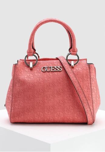 0e7d0b1782d3 Buy Guess Heritage Pop Girlfriend Satchel Bag Online on ZALORA Singapore