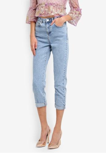Miss Selfridge blue Petite Mom Jeans MI665AA0SLEUMY_1