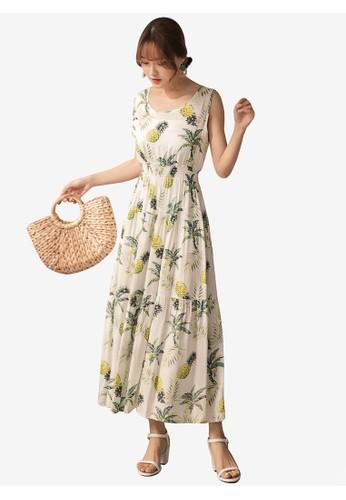 Tokichoi white Floral Sleeveless Maxi Dress 17062AA52AB738GS_1