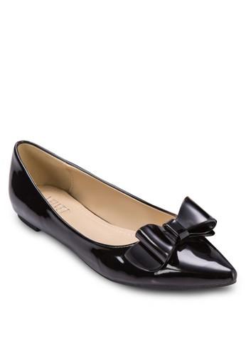 Gellish 亮面蝴蝶結尖頭平底, zalora 順豐女鞋, 鞋
