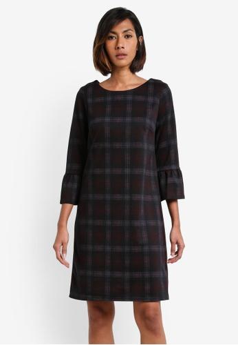 Dorothy Perkins purple Black And Wine Checkered Shift Dress DO816AA0RY15MY_1