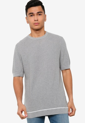 BOSS grey Forte 10215834 T-Shirt - BOSS Men B5815AA2E652C8GS_1
