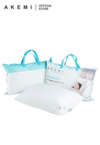 AKEMI AKEMI Sleep Essentials 10 Holes Loft Fibre Pillow (Bundle of 2) 831E4HL761493DGS_1