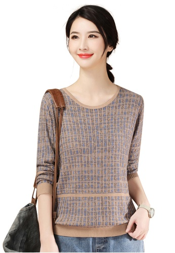 A-IN GIRLS multi Fashion Round Neck Knit Sweater A5337AA93AC26BGS_1
