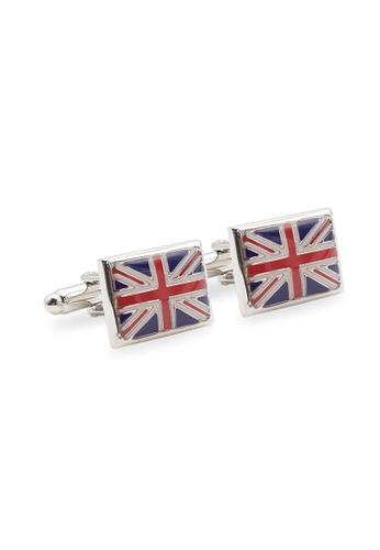 Arden Teal silver Union Jack Chrome Cufflink 6FCCBACCBABE4EGS_1