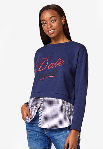 ESPRIT navy Long Sleeve Sweatshirt 4DFA2AA5A2ABCBGS_1