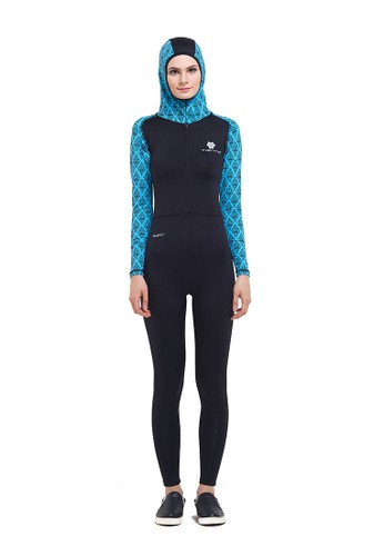 Tiento black Tiento Black Turquoise Wetsuit Hoodie TI503US78APDID_1