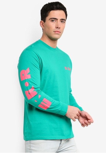 Factorie green and multi Long Sleeve Graphic T-Shirt 7D088AAF875D1EGS_1