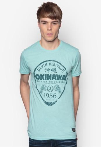 Brighesprit香港分店地址ton 沖繩徽章設計TEE, 服飾, 印圖T恤