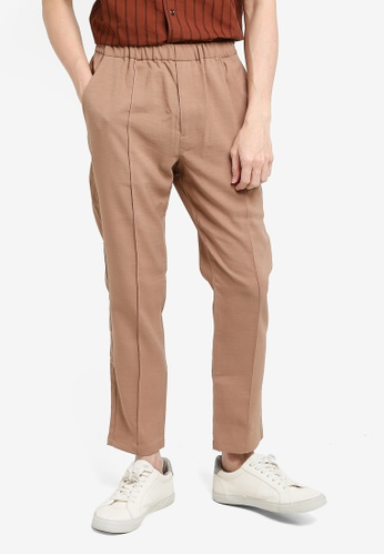 niko and ... brown Drawstring Pants 4C6B1AA6C30B87GS_1