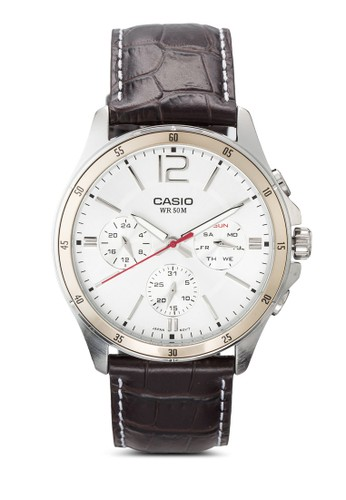 Eesprit 內衣nticer 圓框男士皮革手錶, 錶類, 飾品配件