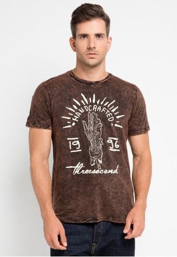 3SECOND brown 3Sco Tshirt 9410 3S395AA0UU03ID_1