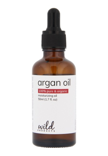 Wild Products Wild Products, Organic Moroccan Argan Oil for Hair, Face, Skin  and Nails - 50ml - The Anti Aging, Anti Wrinkle Beauty Secret B50D7BEA8E2061GS_1