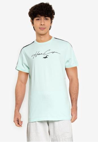 Hollister green Tech Tonal Tapes T-Shirt 9A93EAADBF50BAGS_1
